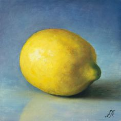 Giclee Print From Original Oil Painting of Lemon - Wall Art for Kitchen and Dining Room - Fruit Print - Pear Art Print - Kitchen Print Lemon Painting, Fruit Painting, Paintings Of Fruit, Apple Painting, Painting Abstract, Art Paintings, Lemon Art, Oil Painting Gallery, Still Life Fruit