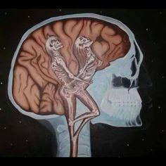 ॐ Psychedelic Mind ॐ Psy Art, Skull And Bones, Tattoo Studio, Black Art, Traditional Art, Trippy, Erotica, Psychedelic, Fantasy Art