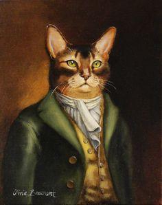 """Signor cavalleresca"" - dipinto ad olio di Olivia Beaumont"