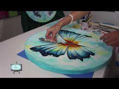 SEGUNDA PARTE!!!!  Lindisima Mariposa  muy colorida  con diferentes técnicas !!!! - YouTube