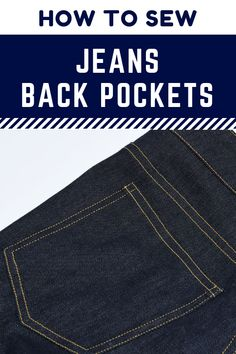 How to sew jeans back pockets the professional way Jeans back pockets sewing tutorial. This tutorial shows a sewing method that closely mimics the way jeans are sewn in the garment industry. Sewing Basics, Sewing Hacks, Sewing Tutorials, Sewing Tips, Basic Sewing, Sewing Crafts, Sewing Jeans, Sewing Clothes, Love Sewing