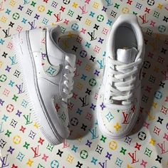 0c3b55c10ea PolyChrome LV Air Force One Sneakers  customs  - limetliss Shoe Department