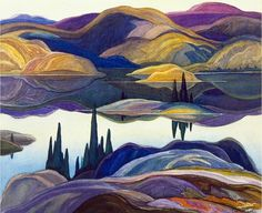 Mirror Lake, Franklin Carmichael by Group Of Seven, Giclee on Canvas, Fine Art Print Group Of Seven Artists, Group Of Seven Paintings, Art Prints For Sale, Fine Art Prints, Franklin Carmichael, Art Encadrée, Art Et Nature, Mirror Lake, Ouvrages D'art