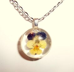 Viola Real Pressed Flower Pansy Johnny Jump by GardenGemsJewelry, $14.95