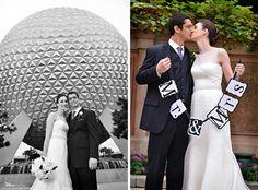 Bridal portrait session at Epcot #WaltDisneyWorld