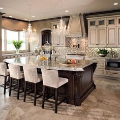 """Good morning! This kitchen has always had my heart! By @tuttointeriors via @behindherreddoor"""
