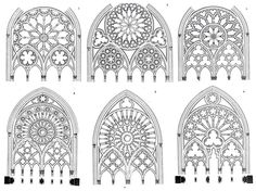 Neo-gothic window designs