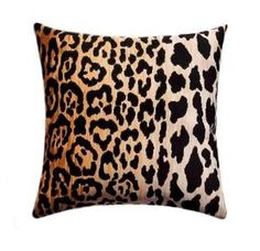 Fabric Designer - Braemore Fabric Name - Jamil Fabric Color - Natural Colors - a cotton velvet leopard print with black spots on an amber, Cheetah Animal, Velvet Pillows, Glam Pillows, Decor Pillows, Accent Pillows, Animal Pillows, Pillow Forms, Cotton Velvet, Home Decor Fabric