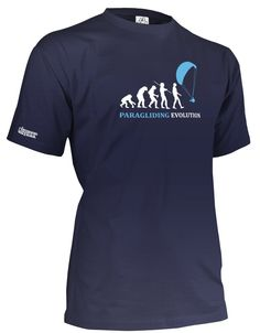 Paragliding Evolution - Herren T-Shirt in Army by Jayess Gr.