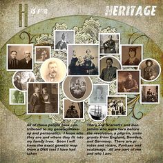 H-Heritage, I like this idea to handle the family photo's that I know are of family but I don't know who exactly they all are!