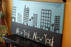 DIY NYC Inspired Canvas Art