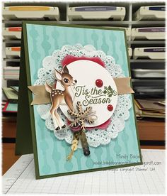 We love all of the fun little embellishments on this card!