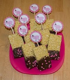 pig party rice krispie treats