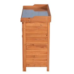 GOOD LIFE Outdoor Garden Patio Wooden Storage Cabinet Furniture Waterproof Tool Shed with Potting Benches Outdoor Work Station Table Nature Color LNG543 >>> (paid link) You can find out more details at the link of the image.