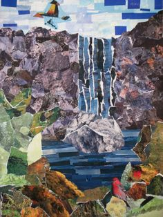My Grade 9's recently finished their landscape collages. I wanted a landscape lesson that wasn't drawing-based and I also wanted to use up ...