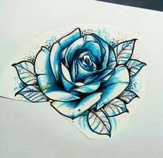 Rose couleur et dotart tattoo