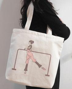 (Tote bag by fabric ) Ballet class