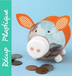 This is the image I've used to make piggy banks in kinder! 25 Things To Do With Empty Plastic Bottles {Water & Soda Bottle Crafts} Saturday Inspiration & Ideas Soda Bottle Crafts, Plastic Bottle Crafts, Diy Bottle, Soda Bottles, Crafts With Water Bottles, Bottle Art, Kids Crafts, Craft Projects, Arts And Crafts