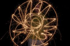 Drawing patterns with sparklers