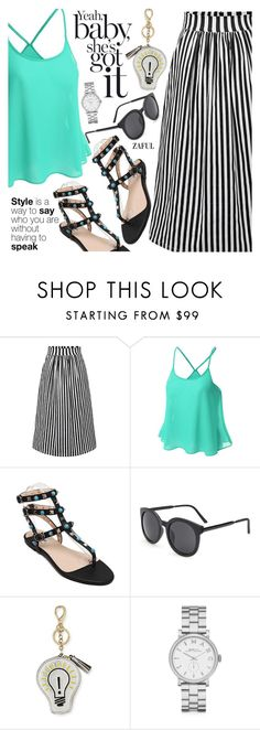 """""""Spring To Summer"""" by pokadoll ❤ liked on Polyvore featuring Anya Hindmarch, Marc by Marc Jacobs, polyvoreeditorial, polyvorefashion, polyvoreset and zaful"""