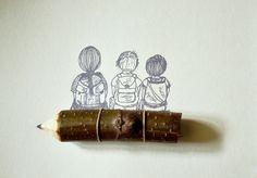 wald°sinnen: Wald°Kinder°Schnitzen - selbstgemachte Bleistifte