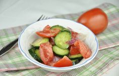 Rachael Ray Tomato, Cucumber and Onion Salad!