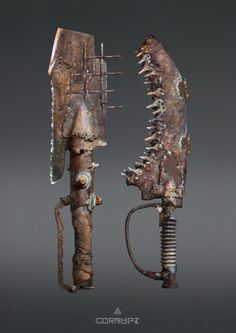 ArtStation - Post apocalyptic melee weapons, Anton Kuhtitskiy