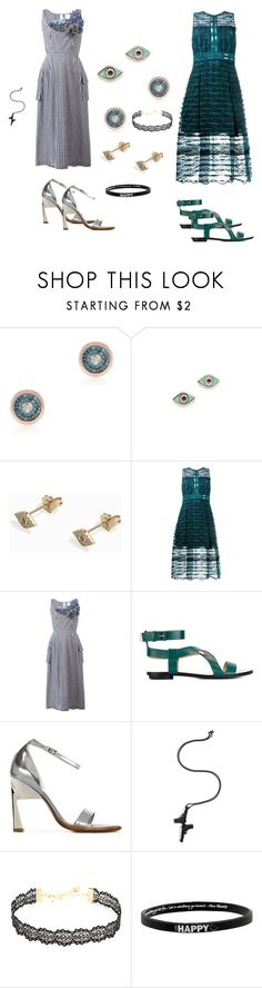 """Evil Eye Studs..**"" by yagna ❤ liked on Polyvore featuring Monica Vinader, Sydney Evan, Jonathan Simkhai, Comme des Garçons, Stella Luna, Maison Margiela, Lynn Ban, Vanessa Mooney, Peace Love World and vintage"