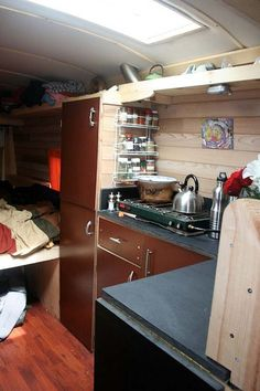 diy motorhome work van converted to housetruck 009   Work Van Transformed to Stealthy Housetruck with Tiny House Touch