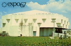 Vintage Expo 67 Postcard, The 1967 Montreal World's Fair - The Pavilion Of Israel Expo 67 Montreal, Montreal Ville, Old Port, Lounge, World's Fair, Best Cities, Photos, Pictures, Pavilion