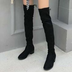 inch Nubuck Nubuck Non-Slip Rubber Non-Slip Polyurethane Women's Black Fall Winter Casual Chunky Heel 4 inch inch Boots Heels 35 36 37 38 39 40 41 Shoes Low Heel Sandals, Low Heels, Women's Heels, Buy Dresses Online, Casual Fall, Chunky Heels, Latest Fashion Trends, Heeled Boots, Shoes