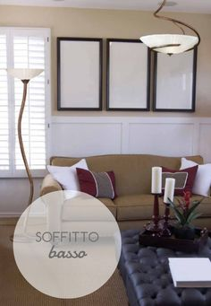 Consiglio per soffitti bassi: tinteggiate le #pareti e il soffitto con #colori chiari.