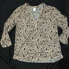 H&M size small owl print blouse Never worn size Small H&M owl print blouse. Pretty pale pink. Make me an offer! H&M Tops Blouses