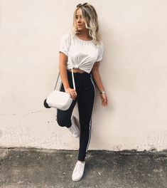 Cute Summer Outfits For Teens Lazy Day Outfits, Summer Outfits For Teens, Sporty Outfits, College Outfits, Trendy Outfits, Girl Outfits, Cute Outfits, Fashion Outfits, Leggings Outfit Summer Casual