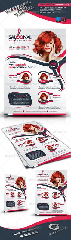 Beauty Salon Business Flyer  #GraphicRiver        Beauty Salon Business Flyer  Fully layered  INDD   Fully layered  PSD   300 Dpi, CMYK   IDML format open Indesign CS4 or later  Completely editable, print ready  Text/Font or Color can be altered as needed  All Image are in vector format, so can customise easily  Photos are not included in the file  Help.txt fonts in the file  Help.txt file     Created: 7December12 GraphicsFilesIncluded: PhotoshopPSD #InDesignINDD Layered: Yes…