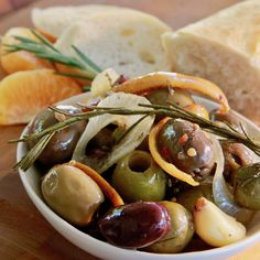 Kicked Up Olives have layer upon layer of interesting flavors, the most unique being tangerine.  #MyAllrecipes #AllrecipesAllstars  #AllrecipesFaceless