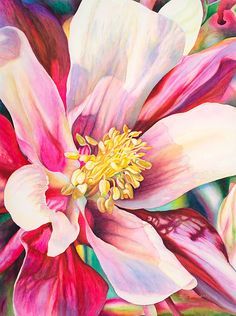 Collected Wisdom by Laurie Asahara Watercolor - striking!  I want to paint flowers again soon.