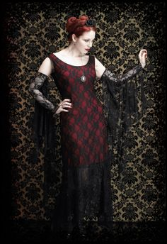 Gothic Clothing & Dark Romantic Couture: Marlene Lace Gloves