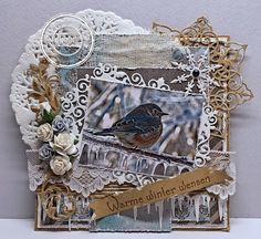 Warm winter wishes card by Astrid