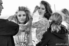 Rosie Huntington-Whiteley & Emily DiDonato for Juicy Couture Spring/Summer 2014 Campaign (Behind the Scenes) - http://qpmodels.com/european-models/rosie-huntington-whiteley/5427-rosie-huntington-whiteley-emily-didonato-for-juicy-couture-spring-summer-2014-campaign-behind-the-scenes.html
