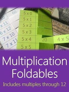 Help your students be successful in mastering their multiplication tables with these multiplication foldables! These foldables come in black/white or color, and 1 set shows the commutative property, while the other set does not. Choose the set that is best for helping your students build multiplication fluency!