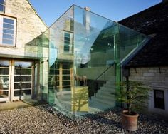 When there's left a land area around your house, one way to increase space or have an extra room is by building a house extension. Building additional areas that are still connected to the main building can be a solution… Continue Reading → Extension Designs, Glass Extension, Maine House, My House, House Removals, Glass Structure, Listed Building, Building Ideas, Glass Roof