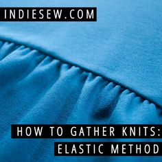 Check out this fool-proof method for 100% perfectly spaced gathers. The elastic does the work for you!