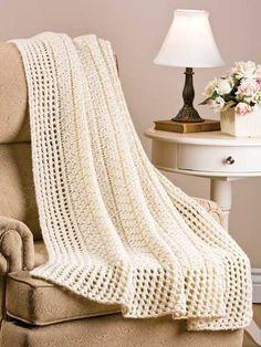 afghan loom knitting | Little Chevron Rib Afghan | Loom Knitting
