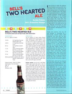 Bell's Official Two-Hearted Ale Clone Recipe by John Mallett, Bell's Production Manager from Zymurgy Magazine - Imgur