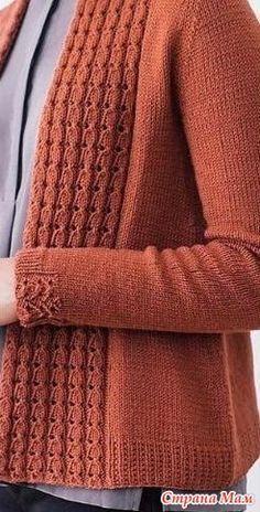 Diy Crafts - Knitting cardigan diy yarns 48 Ideas for 2019 Diy Crochet Sweater, Crochet Cardigan Pattern, Sweater Knitting Patterns, Knitting Stitches, Knitting Needles, Knit Patterns, Hand Knitting, Knit Crochet, Knitting Machine