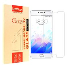 """Screen Protector for Meizu m3 mote, Leathlux [0.26mm] Ultra Thin Tempered Glass Film 9H Hardness HD Clear Toughened Glass Screen Cover for Meizu m3 mote / Meizu Blue Charm Note 3 5.5"""" -- Awesome products selected by Anna Churchill"""