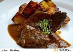 Myslíme si, že by sa vám mohli páčiť tieto piny - Czech Recipes, International Recipes, Ham, Steak, Paleo, Pork, Food And Drink, Beef, Treats