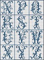 Free Easy Cross, Pattern Maker, PCStitch Charts + Free Historic Old Pattern Books: Sajou No 322 Beaded Cross Stitch, Simple Cross Stitch, Easy Cross, Cross Stitch Embroidery, Beading Patterns, Cross Stitch Patterns, Crochet Letters, Embroidery Letters, Monogram Alphabet