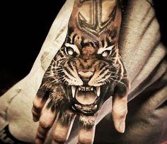Tiger tattoo by Hugo Feist